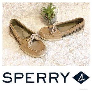 Sperry Zebra Boat Shoes! 🌸